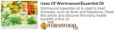 benefits of wormwood oil